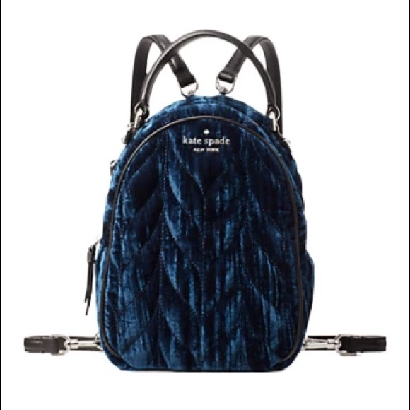 Kate Spade Brayden Quilted Velvet Mini Backpack